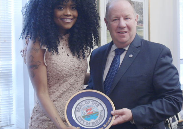 Karen Civil Receives The Seal of Elizabeth, NJ