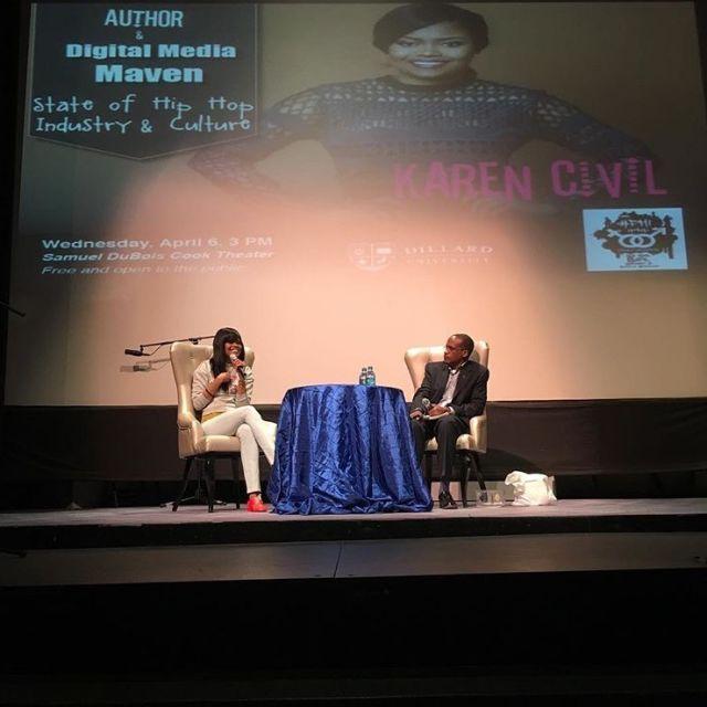 Karen Civil Speaks At Dilliard University