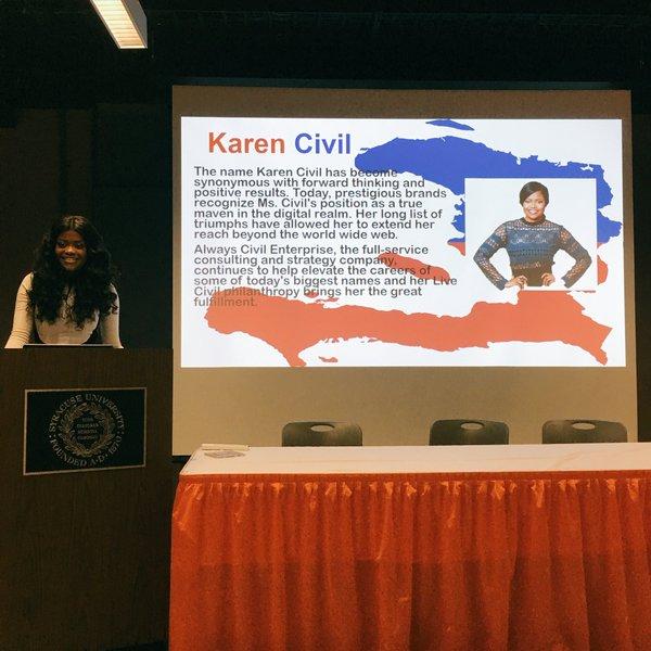 Karen Civil Speaks At Syracuse University