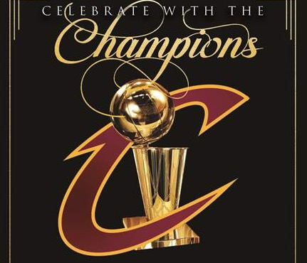 Cleveland Cavalier's Celebrate the Champions