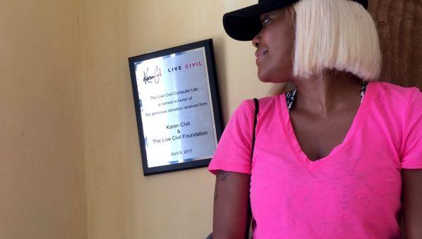 Karen Civil Opens Computer Lab in Haiti
