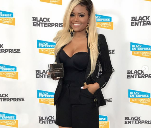 "Karen Civil Receives ""Social Influencer of the Year"" From Black Enterprise"